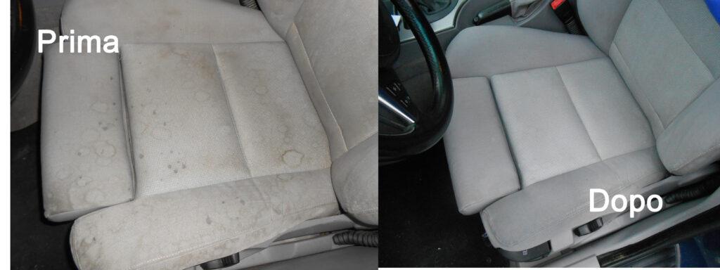 pulizia e igienizzazione interni auto