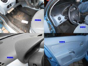 igienizzazione interni auto